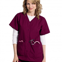 womens-landau-snap-front-v-neck-tunic